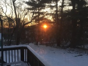 Beautiful sunrise on a cold morning