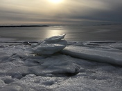 Ice on Lewis Bay
