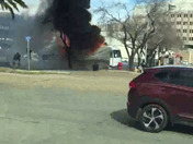 Motorhome Camper on Fire