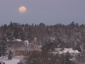 Super Moonset Over Saranac Lake