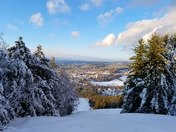 Christmas Day overlooking Claremont, NH