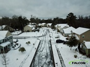 Aerial images of the snowfall