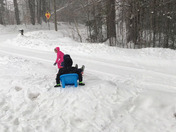 Sledding Before the Storm