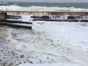 20 Foot Waves Crash Over Seawall In Scituate