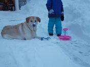 Miller enjoying the snow