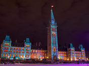 Parliament Light Show!
