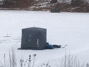 Ice fishing at north park