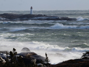 Peggy's Cove, Nova Scotia 2 days after class 2 hurrican.
