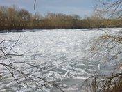 Frozen Yadkin River