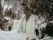 Hilton Falls Frozen Over