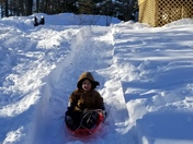 Zachary sledding!!