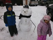 Our first snowman!