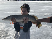 He caught his master angler Northern Pike