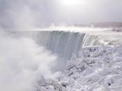 Niagara Fall in White