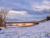 Fence & sky.