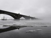 foggy wrightsville - columbia bridge today 01.12.18
