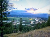 Sunset off Kootenay Highway