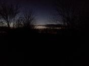 Last of the sunset in spiro ok looks like a lake