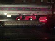 Train car crash Fitchburg line in Shirley.