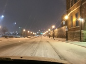 Snowy ride home from downtown Louisville.