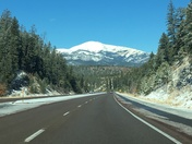 Beautiful drive toward Ruidoso after snowfall on Sierra Blanca