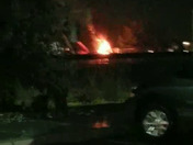 Crane on Fire off Espenshade Rd Mt Joy