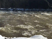 Mad River flowing fast in Thornton