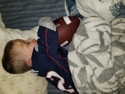 Nap before the big game.
