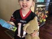 Adorable Patriots fan!