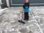 Sweeping the Snow