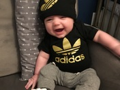 Black and gold fan