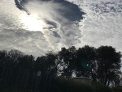 Very unusual clouds over Cameron Park today.
