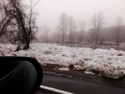 Ice jam in ausable forks on 01/12/2018