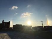 Sundogs over Fremont