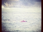 Successful ocean rescue of swimmer taken out by rip off Carmel Beach.