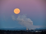 Full Moon Setting in a Sub-Zero Sunrise