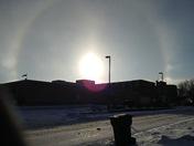 Sun over Boone County hospital