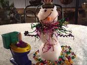 Krewe of Tucks snowman.  Happy Mardi Gras/Carnival season