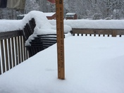 Madbury NH snow is almost 8 inches