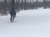 bike ride in the snow