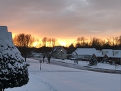 Snow at sunset in Boiling Springs