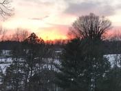 Snowy Sunset over Raven Knob