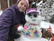 Brooklynn and Zelda the Snowgirl