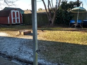 Edgar from Houma, picture of the frosty conditions with an ice sickle coming down from my gutter...