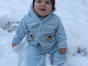 Liam's first snow fall