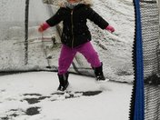 My daughter Brielle enjoying her snow day