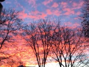 This is the sunrise here in Fenton IA