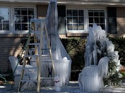 Ice sculpture in Metairie on the corner of 17th st. & Clifford dr. this morning