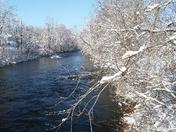 New snow mascoma river Lebanon nh