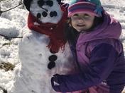 Eastyn and her snowman Olaf